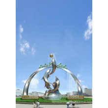 Modern Large Famous Arts stainless steel Animal sculpture for Garden decoration