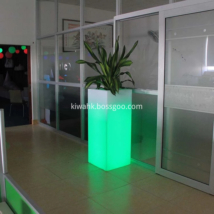 Outdoor LedLight Plastic Flower Pot