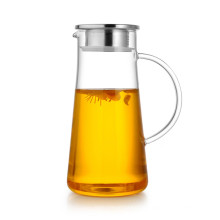 Nuevas Ideas de Negocios Regalo promocional Jarra de agua de vidrio con tapa