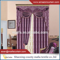 2016 hot sale 100% poly jacquard blackout curtain for manufactured home