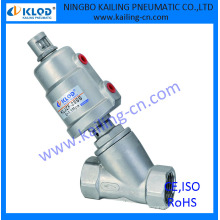 "2 inch size angle cock valve, stainless steel body and actuator, KLJZF-2""SS"