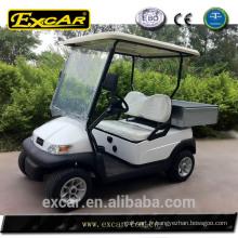 Vente chaude voiture de golf électrique avec boîte arrière en alliage