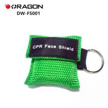 DW-FS001 Masque CPR jetable promotionnel avec porte-clés facial shield