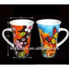 white ceramic mug with handle ,hot selling!!