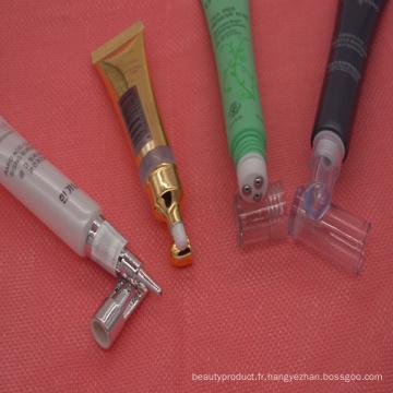 Squeeze Eyecream cosmétique douce Tube avec bouchon à vis