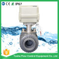 """2"""" Inch 2 Way Dn50mm 24V NSF Approved Electric Motorized PVC Ball Valve"""