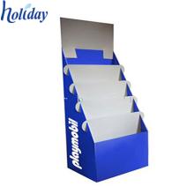 Taschen-Literatur-Halter-Stand, abgestufte Karton-Gruß-Karten-Anzeige für Boden
