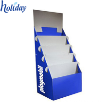 Pockets Literature Holder Stand,Tiered Cardboard Greeting Card Display For Floor