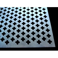 Perforated Metal Decorative Cloverleaf Aluminum Sheet