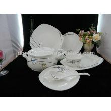 royal bone china ceramic square bowl fruit tray gold plate dinnerware