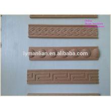 Moldura de madera decorativa delicada tallada / Molduras de madera tallada a mano