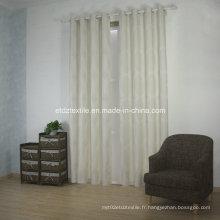 Tissu de rideau en jacquard en polyester moderne et moderne