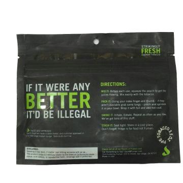 Saco de Tabaco Resealable Atacado, Customized Tobacco Bag