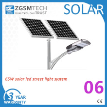 5 anos de garantia 30W-120W Solar Street Light 65W Solar LED