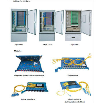 SMC Outdoor 144 Fiber Distribution Terminal Cabinet