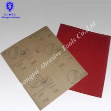 Rotes Aluminiumoxid-wasserdichtes abschleifendes Papier