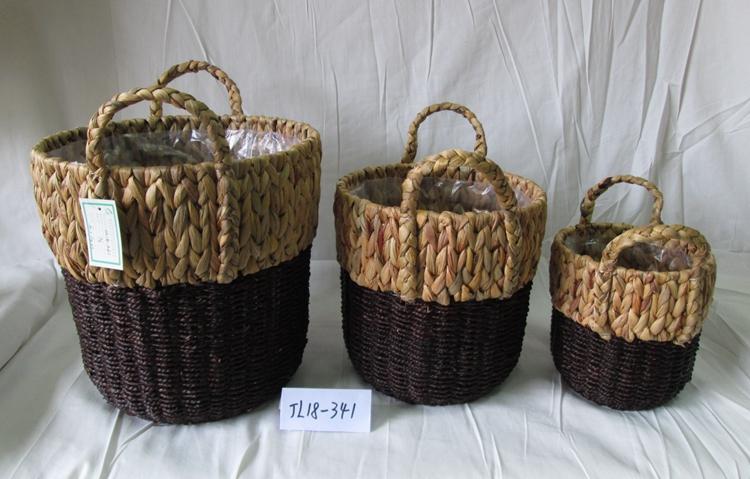 water hyacinth flower basket