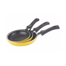 Home Basic 3 PCS Nonstick Coated Aluminium Egg Pans Sets