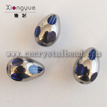 6*8mm silver Plated Crystal Bead