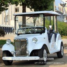 Carros de golfe sightseeing do vintage clássico elétrico do passageiro do seater de 7.5KW 68V 4 por atacado