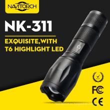 Linterna táctica de 800 Lúmenes CREE Xml T6 Zoomable 18650 (NK-311)