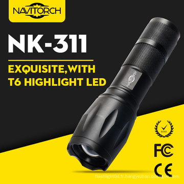 800 Lumens Tactical Police CREE Xml T6 Zoomable 18650 lampe de poche (NK-311)