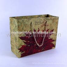 Regalo artesanal regalo bolsa de papel kraft marrón