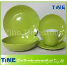 Wholesale 20PCS Ceramic Colored Stoneware Dinnerware