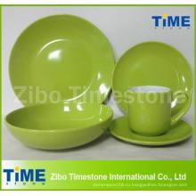 Оптовая 20pcs керамический цветной керамики посуда