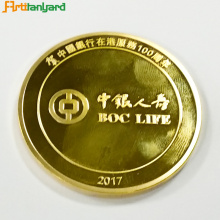 Customized Proof Coin With Gold Plating