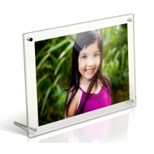 Floating Acrylic Frame for Pictures Desktop Hardware
