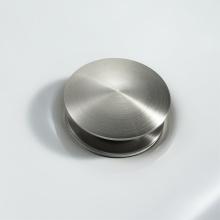 Dreno pop-up de tubo de drenagem escovado com furo de transbordamento