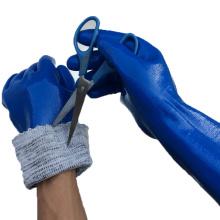 NMSAFETY imperméable nitrile enduit gants résistant à la coupe longue