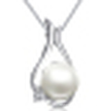 Women′s 925 Silver Natural Pearl Pendant Necklace with Chain
