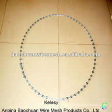 Silver galvanized durable razor wire with high quality in store