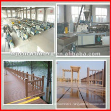 wood plastic fence making machine garden fence/chair/floor