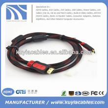 Kabel plateado oro 1.3V HDMI con Nylon