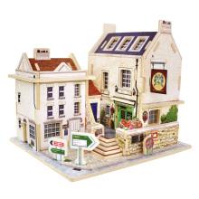 Juguete de coleccionables de madera para Global Houses-Britain Bar