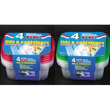 Plástico rectangular para llevar Contenedor de alimentos para microondas 24oz