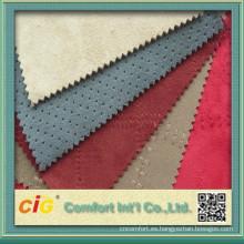 China alta calidad 100% poliester gamuza tela