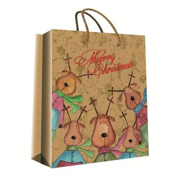 CHRISTMAS SERIES KRAFT GIFTBAG8-0