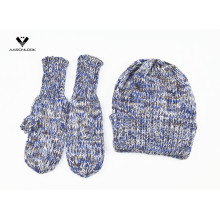 Женская зимняя шапочка-шапка и рукавица 2шт.