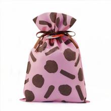Bolsas de plástico reutilizables no tejidas con cordón de San Valentín
