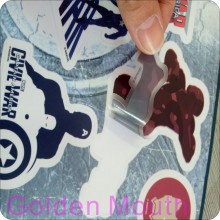 Custom Printed Vinyl Stickers with Die Cutting  Shape