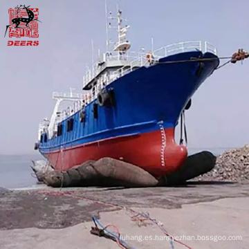 Airbag marino de caucho neumático con certificación ISO para botadura de barcos