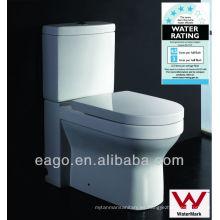 EAGO Watermark inodoro de cerámica con dos piezas armario WA101S