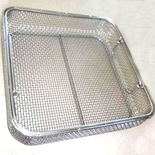 woven wire mesh basket