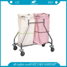 AG-Ss019 Ss Linen Trolley Easy Clean Commercial Hospital Linen Carts