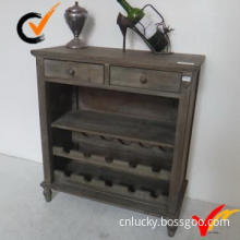 french style shabby chic wooden wine cabinet