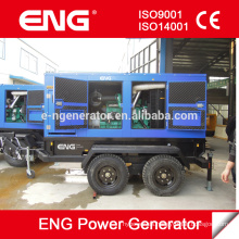Generador de remolque de 4 ruedas 50HZ 100KVA con motor CUMMINS